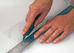 cutting plastic