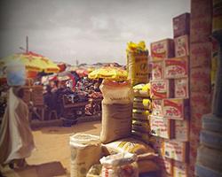 African market in Nigeria