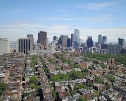 Boston from a drone