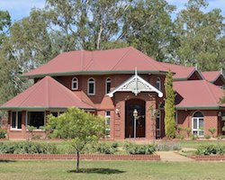 Brick house in Australia