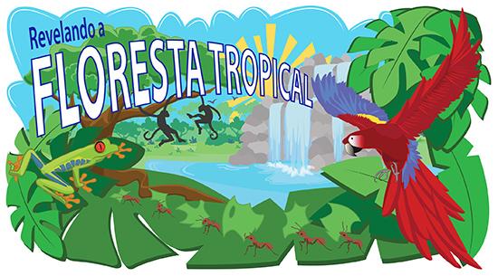 Ilustração da floresta tropical