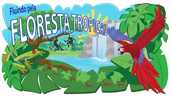 Fluindo pela floresta tropical