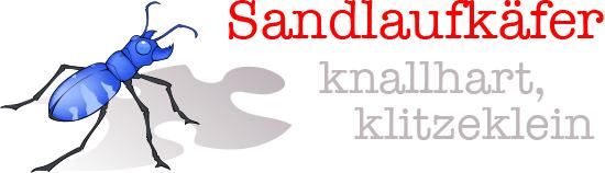 Sandlaufkäfer knallhart, klitzeklein