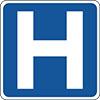 hospital road sign