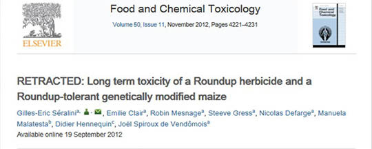 Retracted article on GMOs