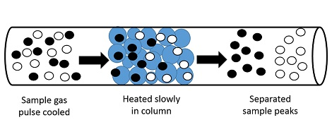 Column to separate gases