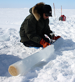 drilling for an ice core