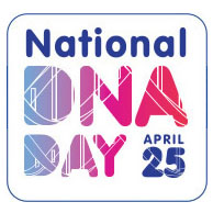 DNA Day graphic and link to NIH site