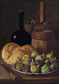 Still life with Figs and Bread by Luis Meléndez