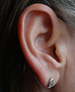 Woman's outer ear