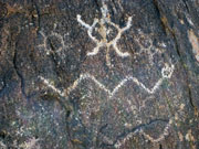 Petroglyph in South Mountain Park Arizona