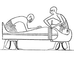 Egyptians embalming drawing