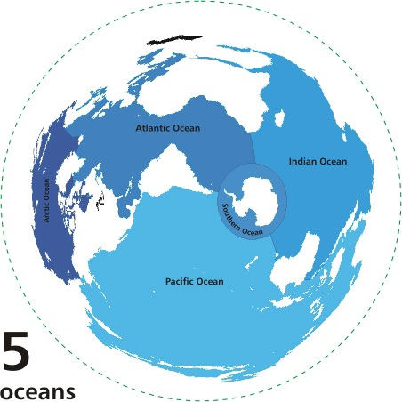 Earths Oceans Most Of Surface Is Covered By