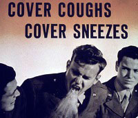 Cover Coughs anti-germ 1940s