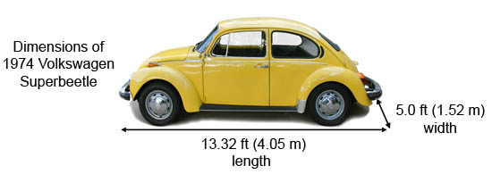dimensions of vw superbettle