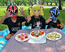 Birthday party with masks