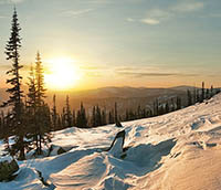 Winter mountains in Siberia