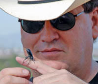 Taxonomist Quentin Wheeler and his favorite insect Eleodes