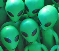 Little green men - aliens