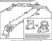 Ask A Biologist, Coloring Page, Digger Bees