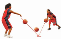 Basketball bounce pass