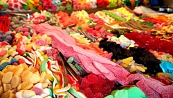Candy junk food.