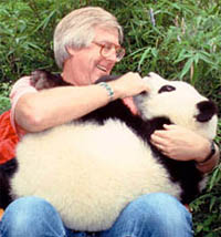 Andrew Smith with Panda friend