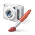 camera and brush icon