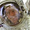 Astronaut Scott Parazynski in space