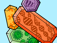 crystalized DNA and proteins
