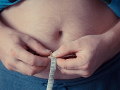 Measuring an overweight belly