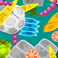 Microorganisms cartoon illustration
