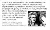 A drawing of Sir Isaac Newton.