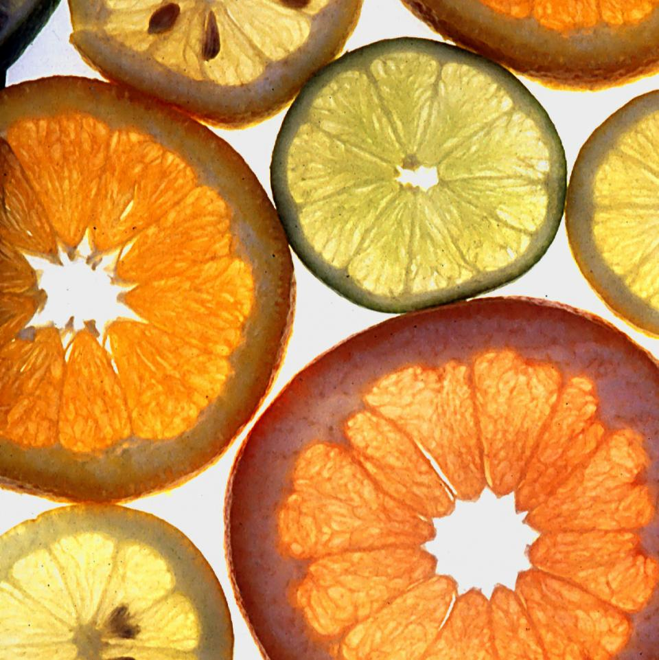 Sliced citrus fruits, image links to Top Questions page