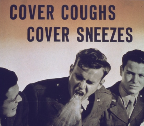 Cover coughs, cover sneezes