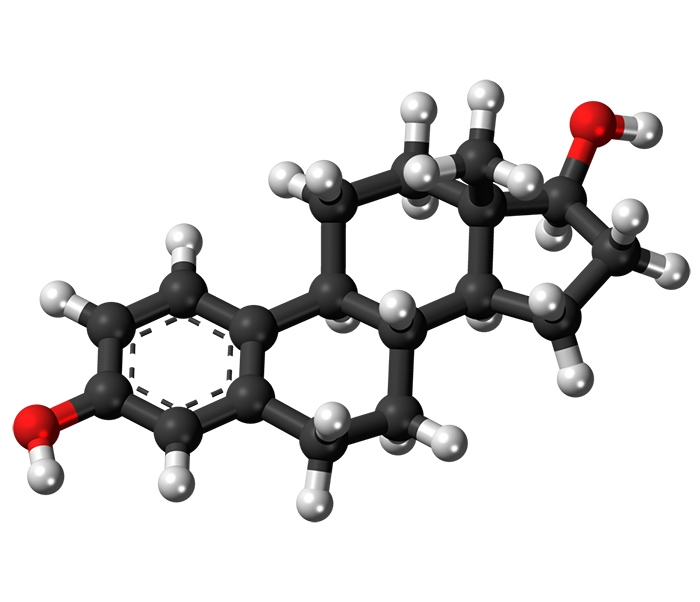 The molecular ball structure of estradiol, an estrogen important to female reproduction