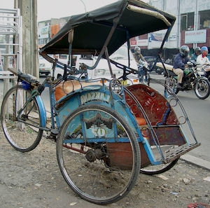 Indonesian tricycle