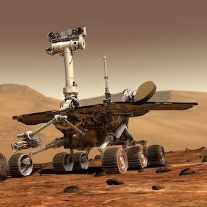 Mars Rover illustration on Mars