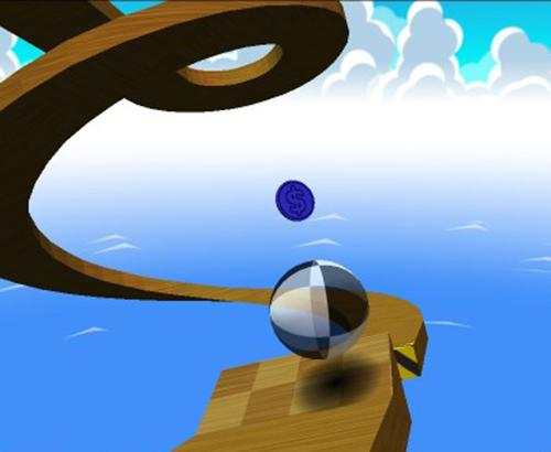 "An image from the video game ""Neverball"""