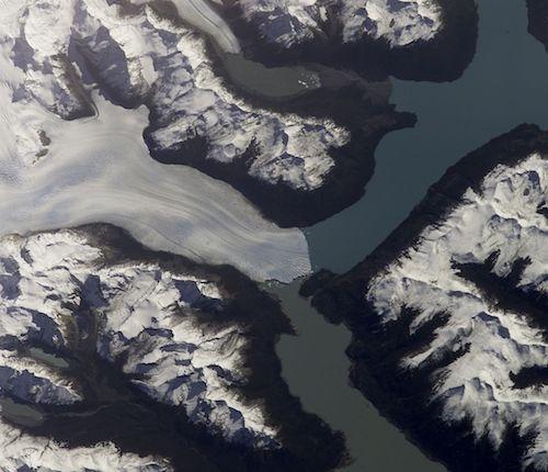 Imagen de satélite del glaciar Perito Moreno