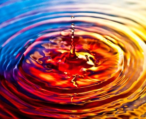 gota de agua ondulando