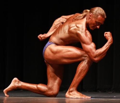 A vegan body builder image, links to Top Question page