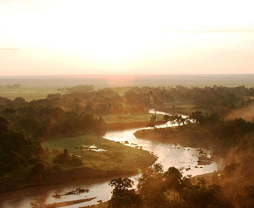 A river in the Serengeti
