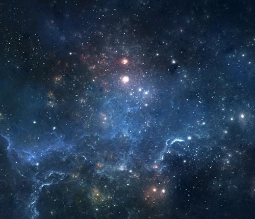 bright stars in a dark universe