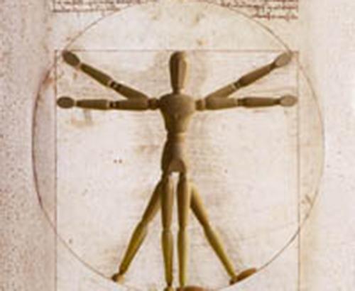 vitruvian stickman