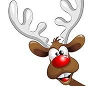 Illustration of Rudolph the red-nosed reindeer